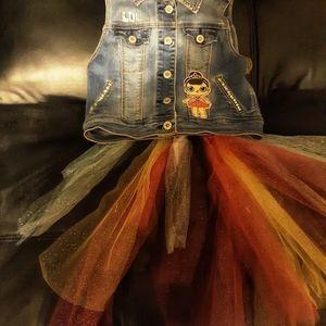 Lol Surpise Denim Rhinestone girls jacket